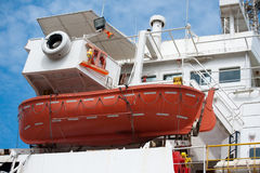 Life boat at the cruise ship Stock Image