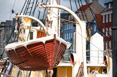 Life boat on the devit Stock Images