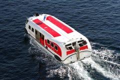 Life boat sailing Stock Photo