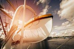 Life boat on sailing ship Royalty Free Stock Photos