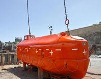Life boat. In a shipyard in spain Royalty Free Stock Photography