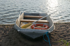 Life boat on shore Royalty Free Stock Image