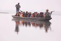 Life in boat Stock Photo