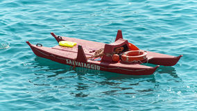 Life-boat. In the water, close to the beach resort Royalty Free Stock Photo