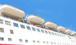 Life boats on cruise ship Royalty Free Stock Photo
