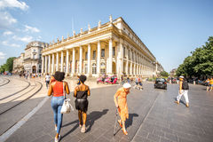 Life in Bordeaux city stock image