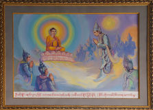 Life of Buddha painting Stock Photography