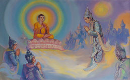 Life of Buddha painting Royalty Free Stock Photography