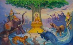 Life of Buddha painting Royalty Free Stock Photos