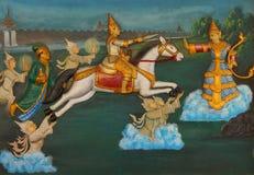 Life of the Buddha painting Royalty Free Stock Image