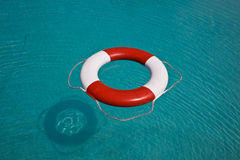 Life buoy. Floating in swimming pool Royalty Free Stock Image