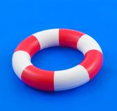 Life buoy. Isolated on a blue background Stock Image