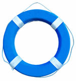 Life buoy. Blue Life Buoy isolated over white background. Clipping path Royalty Free Stock Images