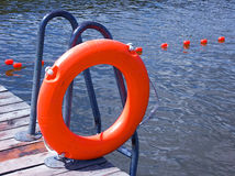 Life buoy. Orange life buoy Stock Photography