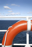 Life buoy. Hanging on a railing's ship Royalty Free Stock Images