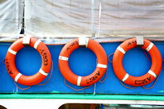 Life Buoy. On the ship Stock Photography