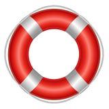 Life Buoy. Red Life Buoy, Isolated On White Background, Vector Illustration