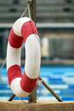 Life buoy. Life-buoy near the swimming pool Royalty Free Stock Photos
