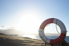 Life Buoy. The Life Buoy at seaside Royalty Free Stock Photography