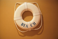 Life buoy. Hang on a wall royalty free stock photography