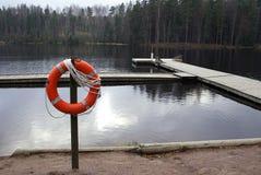 Life buoy. Red life buoy royalty free stock photos
