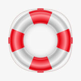 Life buoy. Vector illustration of a life buoy. Elements are layered separately in vector file. Mesh used Royalty Free Stock Images