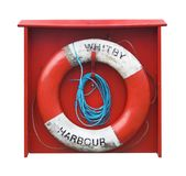 Life Buoy. An Orange Life Buoy from Whitby Stock Photos