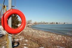 Life Buoy. A life bouy on the beach Royalty Free Stock Photos