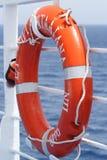 Life-buoy. Orange life buoy on a greek ferry Stock Image