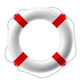 Life buoy. White life buoy. Vector illustration. Detailed portrayal Royalty Free Stock Photos