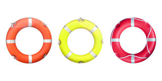 Life buoy. Isolated over a white background Stock Photos