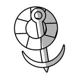 Life buoy anchor nautical travel maritime line shadow. Illustration eps 10 Royalty Free Stock Image