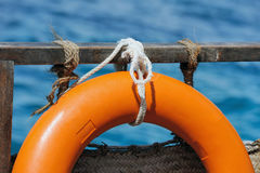 Life buoy attached Stock Images