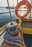 Life buoy attached to the cruise ship Royalty Free Stock Photography