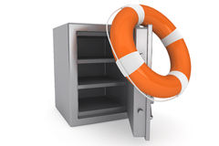 Life Buoy and bank safe Royalty Free Stock Images