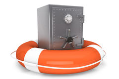 Life Buoy and bank safe Stock Images