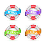 Life buoy banner set Stock Photos