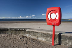 Life Buoy By Beach Royalty Free Stock Photography