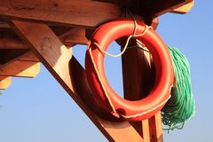 Life buoy from the beach Royalty Free Stock Photos