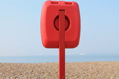 Life buoy on a beach Stock Images