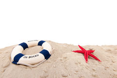 Life buoy at the beach Stock Photos