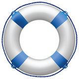Life buoy blue vector illustration
