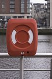 Life buoy cabinet Royalty Free Stock Photos