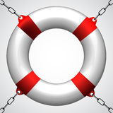 Life buoy in chains Stock Photos