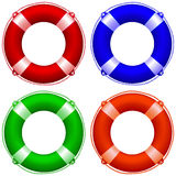 Life buoy collection Royalty Free Stock Photography