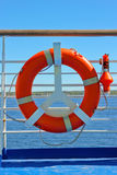 Life Buoy on a cruise Stock Images