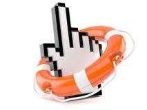 Life buoy with cursor. Isolated on white background Royalty Free Stock Image
