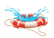 Life buoy for drowning rescue on water Royalty Free Stock Photo