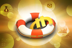 Life buoy with euro Stock Image