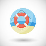Life buoy  flat icon Stock Images